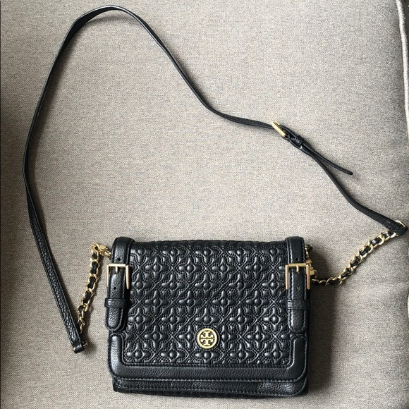 Tory Burch Bags Bryant Quilted Crossbody Leather Bag
